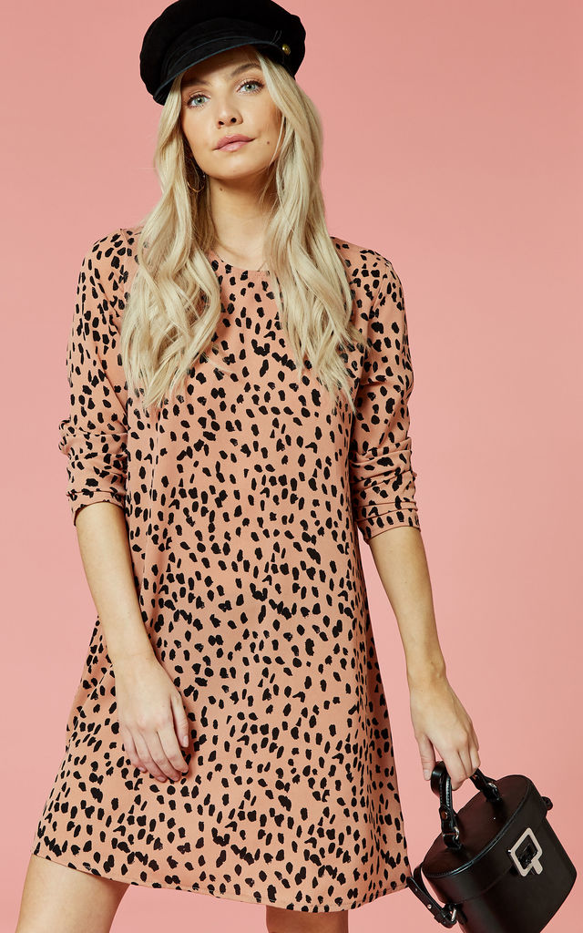 Fawn Animal Print Mini Shift Dress by Glamorous