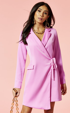 Violet Wrap Front Blazer Style Mini Dress by Glamorous Product photo