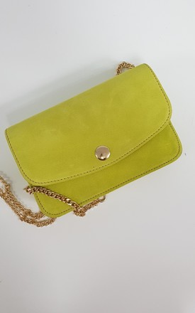 IT BAG SUEDE GREEN by THE CODE HANDBAGS
