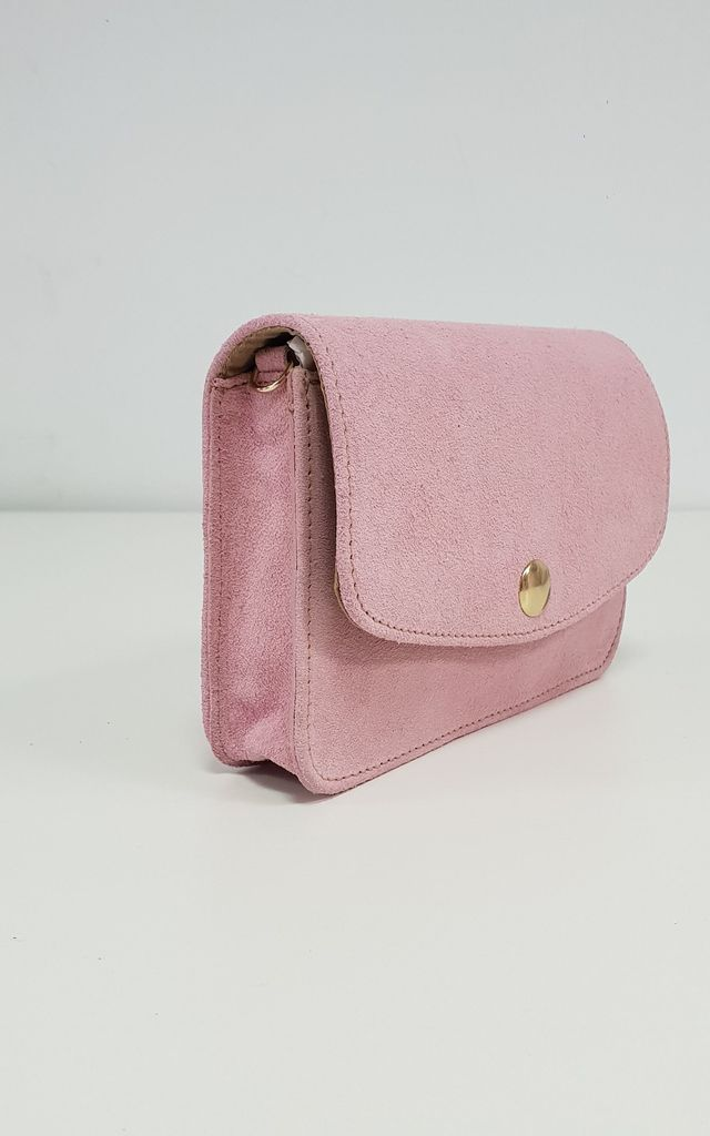 IT BAG SUEDE PINK by THE CODE HANDBAGS