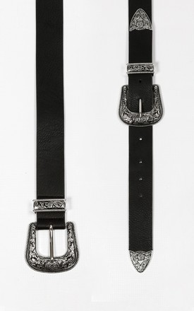 Chunky Silver Double Buckle Belt by Dressed In Lucy