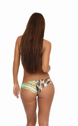 Leopard Whipray Bikini Bottom by Mavele Swimwear