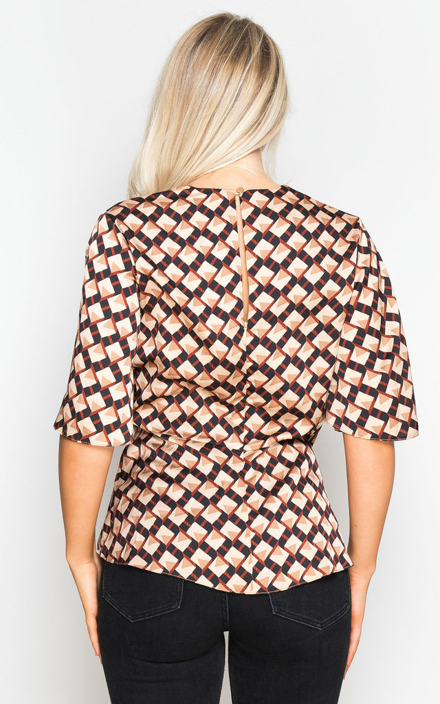 Elicia Geo Print Wrap Top Multi by Girl In Mind