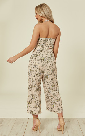 ANNA – Blush Halterneck Jumpsuit by Blue Vanilla
