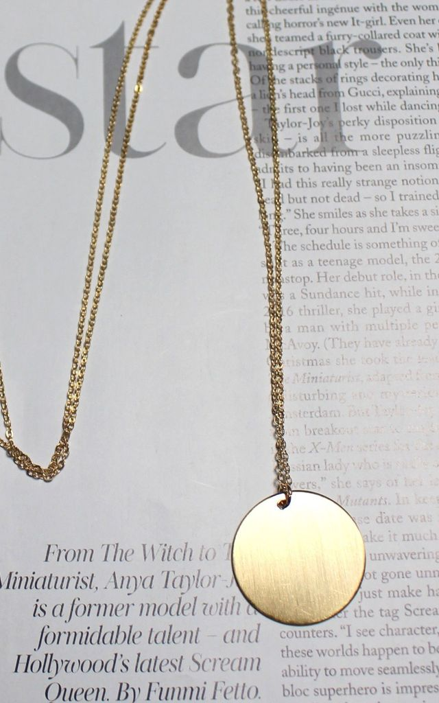 Skinny Gold Circle Necklace by HAUS OF DECK