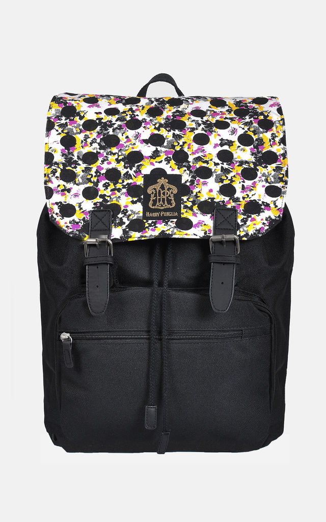 80s 90s polka dot laptop backpack by The Left Bank