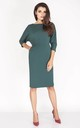 Pencil Dress with 3/4 Sleeves and Pockets in Green by Bergamo