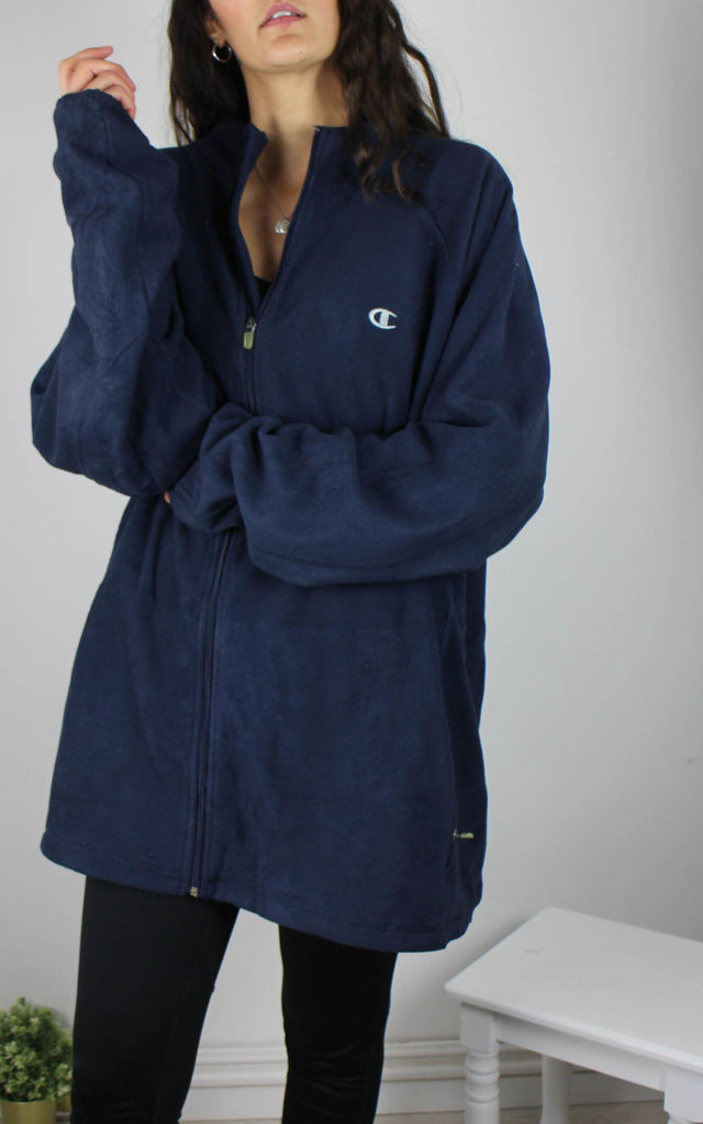 Vintage Champion Fleece Jacket with Logo Front & Back by Re:dream Vintage