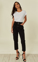 SULLIE JEANS HIGH WAISTED BLACK by Jovonna London