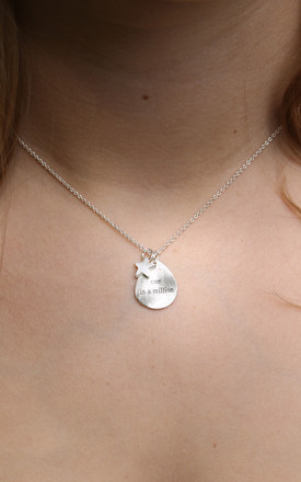 """One In A Million"" Necklace In Silver by White Leaf Product photo"