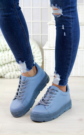 Blue Pastel Spring Trainers by Larena Fashion