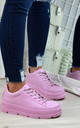 Pink Pastel Spring Trainers by Larena Fashion
