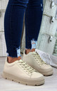 Beige Pastel Spring Trainers by Larena Fashion