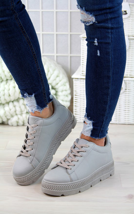 Grey Pastel Spring Trainers by Larena Fashion