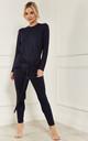 Navy Long Sleeve Lounge Set by Lilah Rose