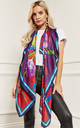 Purple Multi Colour Silky Scarf by Bella and Blue