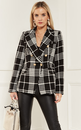 Black Checked Blazer by Bella and Blue