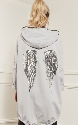 Grey Angel Wings Jacket by Bella and Blue