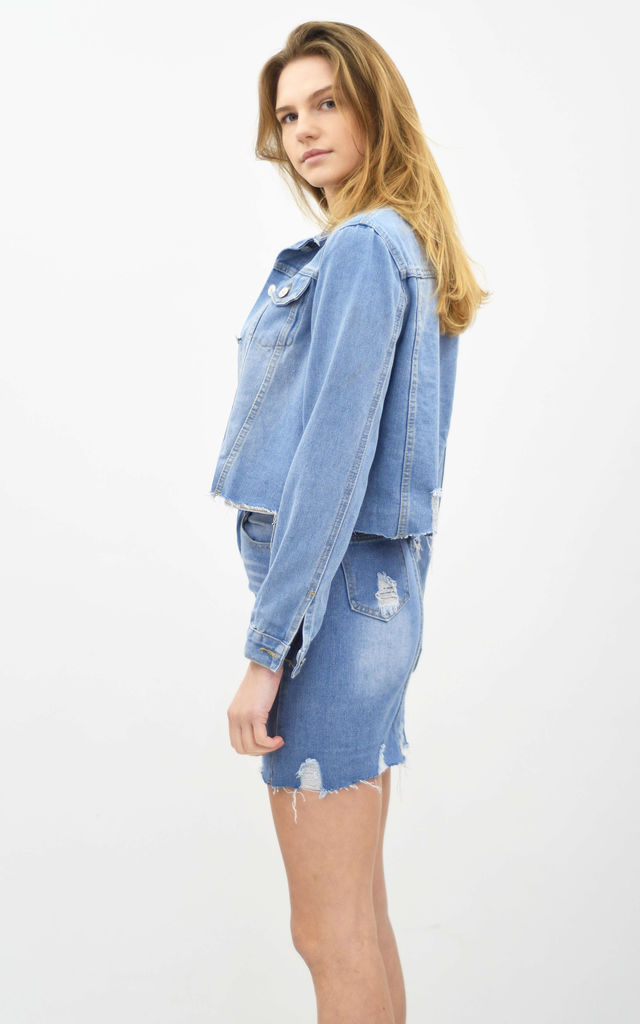 JEANS DISTRESSED CO-ORDINATE by Lucy Sparks