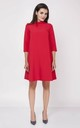 Red 3/4 Sleeve Flounce Loose Dress by Bergamo