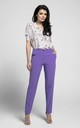 Violet Straight Leg Elegant Trousers by Bergamo