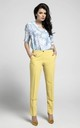 Yellow Straight Leg Elegant Trousers by Bergamo