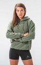 Seeing Thngs Embroidered Hoodie Military Green by Seeing Thngs