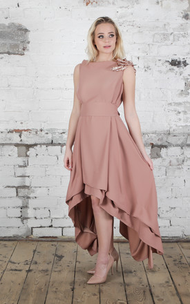 Rose Gold Sparkle Wendy Dress by Blonde And Wise