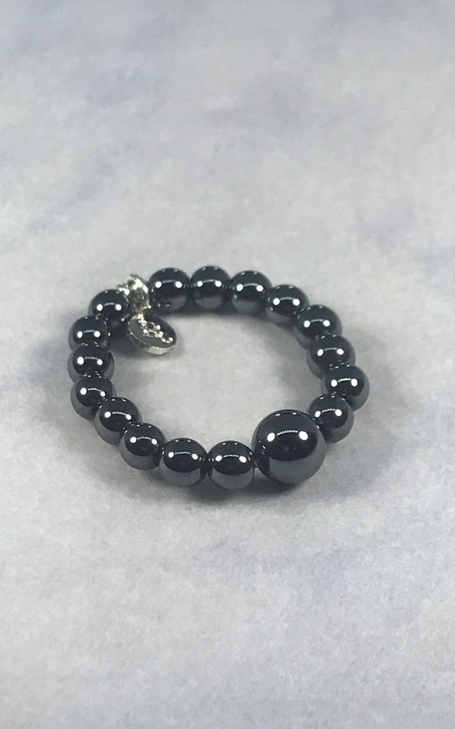 Black Hematite Ring by DarcyRose Jewellery