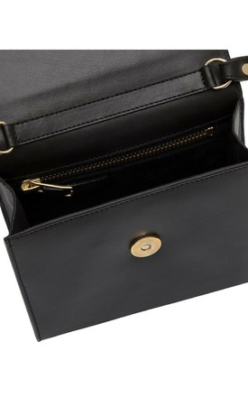'MARIANNE' Leather Cross Body Bag in Black by Tamara Harvey