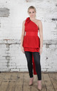Bright Red Drew Top by Blonde And Wise