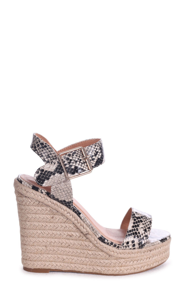 Cuba Natural Snake Rope Platform Wedge by Linzi