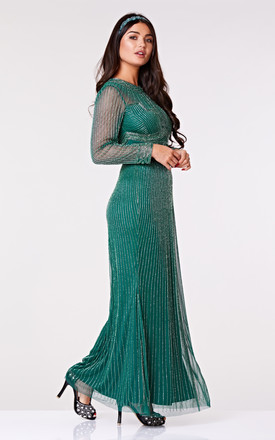 9845b8d886 Mia Long Sleeved Maxi Dress In Green