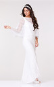 Sophie Embellished Cape in White by Gatsbylady London