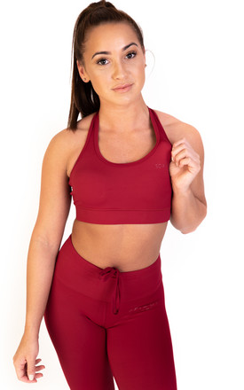 Sss Sports Bra Brick Red by Sculpt Activewear Product photo
