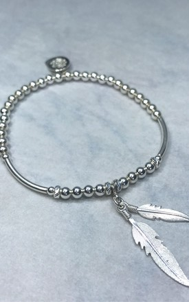 Sterling Silver, Double Feather Bracelet by DarcyRose Jewellery