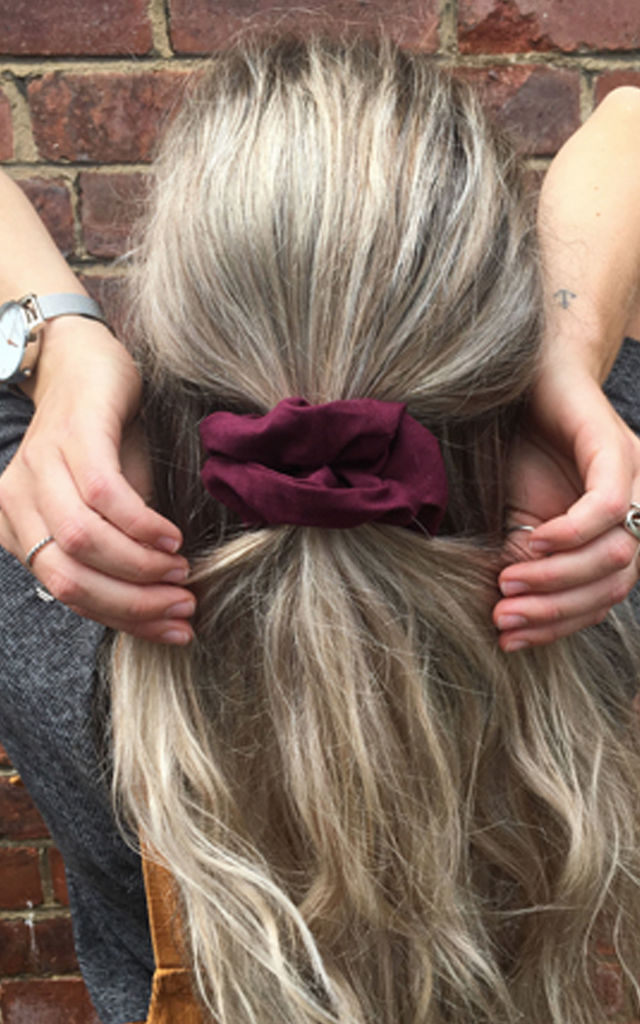 Burgundy Scrunchie by LULU IN THE SKY