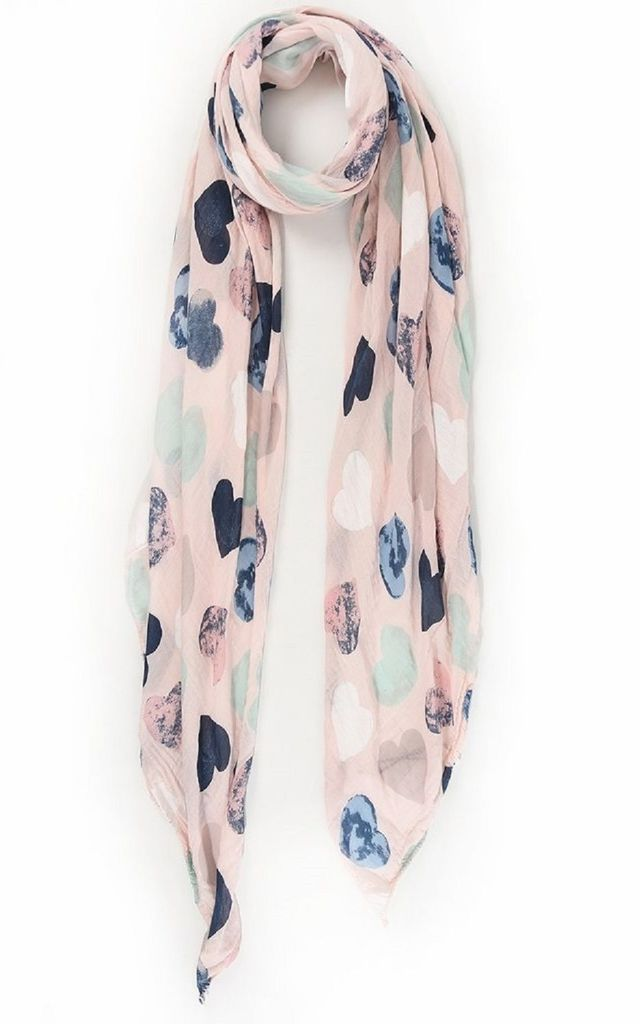 Pink Heart Scarf by Nautical and Nice Ltd