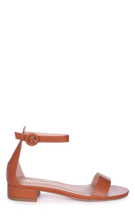 Monique Tan Nappa Barely There Block Heeled Sandal by Linzi