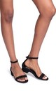 Monique Black Suede Barely There Block Heeled Sandal by Linzi