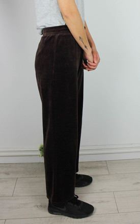 Vintage Sweatpant Trousers in Velour by Re:dream Vintage
