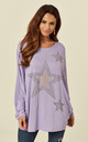CHARLOTTE – Bling Star Oversized Lilac Top by Blue Vanilla