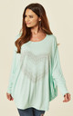 MIA – Oversized Bling Mint Heart Top by Blue Vanilla
