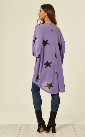 NANCIE – Oversize Star Top Lilac by Blue Vanilla