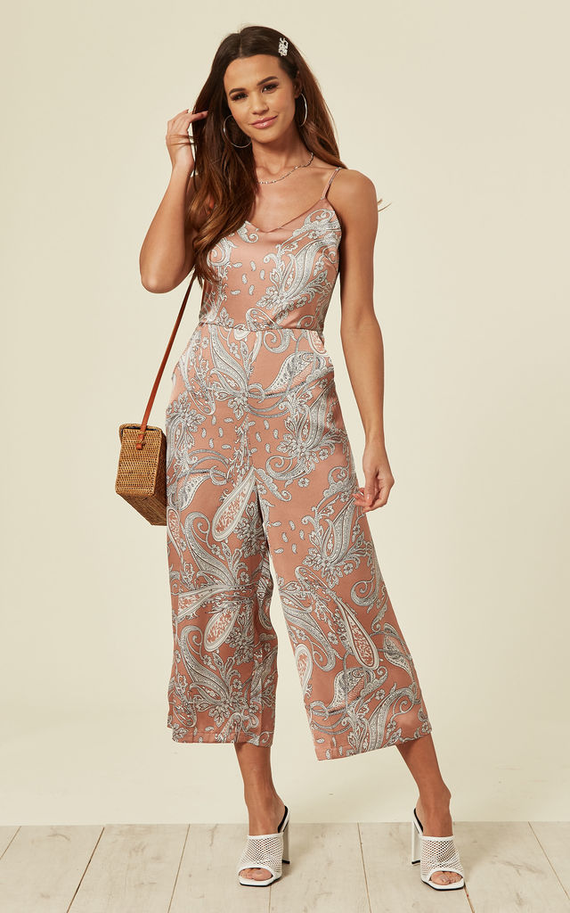 LUCY – Blush Tie Back Culotte Jumpsuit by Blue Vanilla