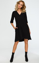 Black trapeze tunic dress by MOE
