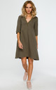 Khaki trapeze tunic dress by MOE