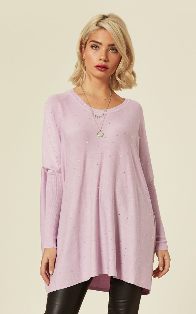 YARDLEY – Studded Front Pink Jumper by Blue Vanilla