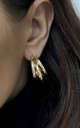 Triple Hoop Earrings In Gold From Mina and Me By Olia by Olia Jewellery
