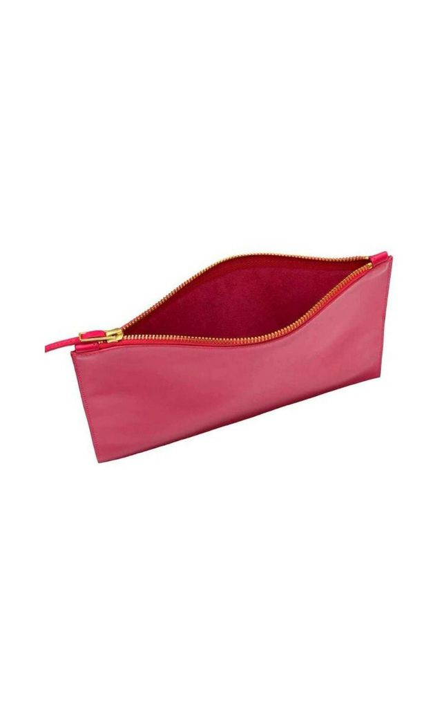 'GRACE' Leather Clutch Bag in Hot Pink by Tamara Harvey